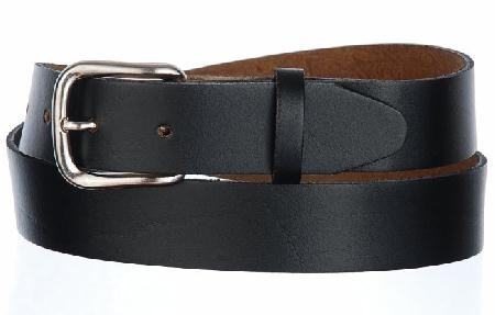 1.25 Black USA Made Top Grain Leather Belt, 38""