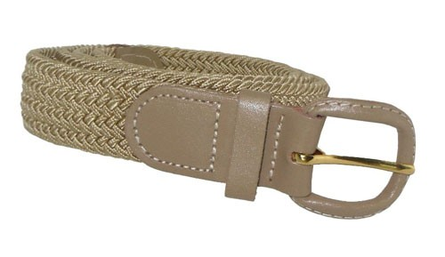 LA-400BG BEIGE WHOLESALE STRETCH LEATHER BELT, MEDIUM
