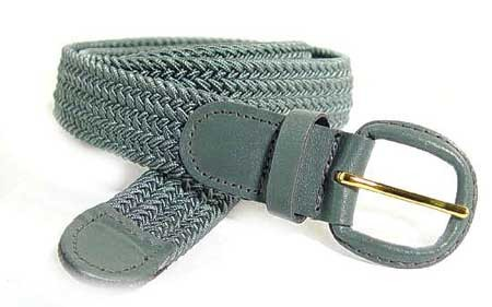 LA-400GY GRAY WHOLESALE STRETCH LEATHER BELT, SMALL (30/32)