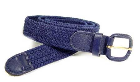 LA-400NB NAVY STRETCH BELT, MEDIUM (34/36)