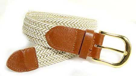 LA-401 SAND MIX STRETCH BELT, LARGE (38/40)