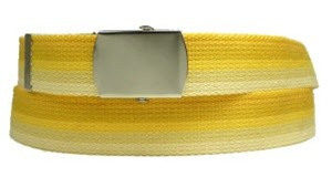 WN-M40 1.25 INCH WIDE MILITARY WEB STRAP MULTI-COLOR YELLOW