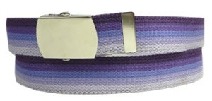 WN-M40 1.25 INCH WIDE MILITARY WEB STRAP MULTI-COLOR PURPLE