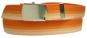 WN-M40 1.25 INCH WIDE MILITARY WEB STRAP MULTI-COLOR ORANGE