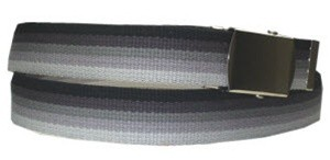 WN-M40 1.25 INCH WIDE MILITARY WEB STRAP MULTI-COLOR BLACK