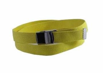 WN-40 YELLOW 1.25 INCH MILITARY STYLE BELT WITH BUCKLE