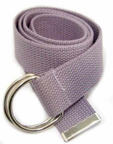 "WN-150 GRAY 1 1/2"" CANVAS BELT W/DOUBLE ""D"" RING BUCKLE, LARGE"
