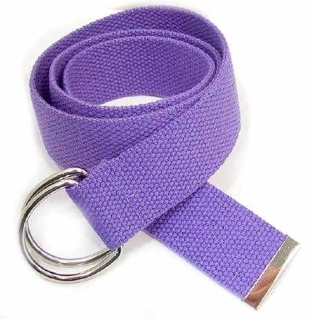 "WN-150 PURPLE 1 1/2"" CANVAS BELT W/DOUBLE ""D"" RING BUCKLE, LARGE"