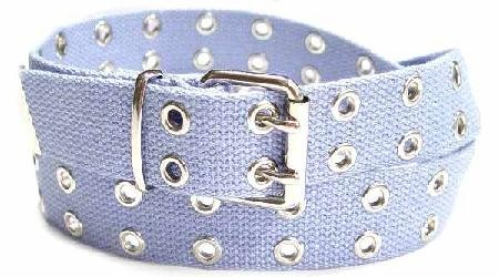 WN-56 TWO HOLE CANVAS BELT - BABY BLUE, LARGE