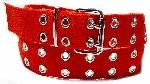 WN-56 TWO HOLE CANVAS BELT - RED, LARGE