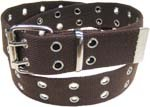 WN-56 TWO HOLE CANVAS BELT - BROWN, LARGE