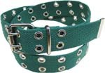 WN-56 TWO HOLE CANVAS BELT - GREEN, LARGE