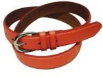 "WN-BD148 1 1/4"" DRESS BELT WITH DOUBLE KEEPER - ORANGE, XL (38/40)"