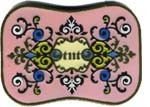 "BU-117 PINK RECTANGULAR TNT BUCKLE (3.25"" H X 4.5"" W)"