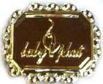 "BU-114 GOLD BABY CAT BELT BUCKLE (2.5"" H X 3.5"" W)"