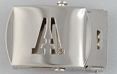 WN-141 INITIAL A MILITARY STYLE BELT BUCKLE