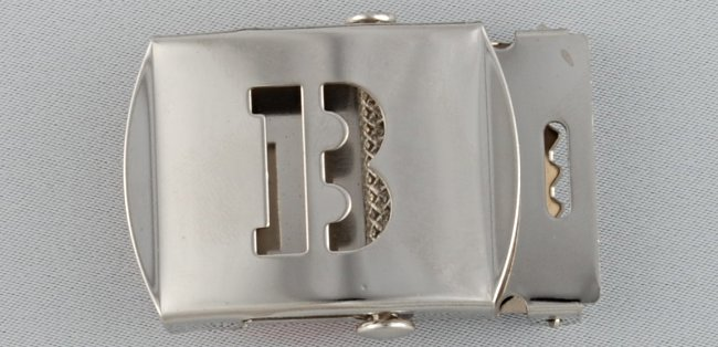 WN-141 INITIAL B MILITARY STYLE BELT BUCKLE