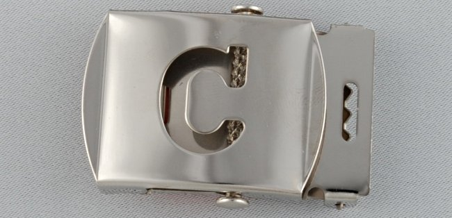 WN-141 INITIAL C MILITARY STYLE BELT BUCKLE