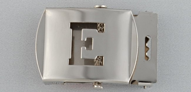WN-141 INITIAL E MILITARY STYLE BELT BUCKLE