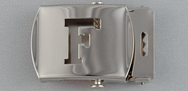 WN-141 INITIAL F MILITARY STYLE BELT BUCKLE