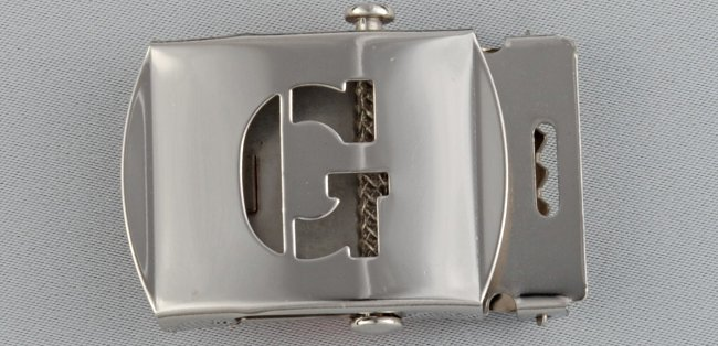 WN-141 INITIAL G MILITARY STYLE BELT BUCKLE