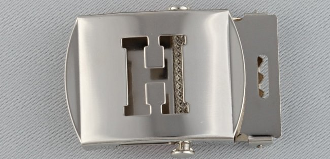 WN-141 INITIAL H MILITARY STYLE BELT BUCKLE