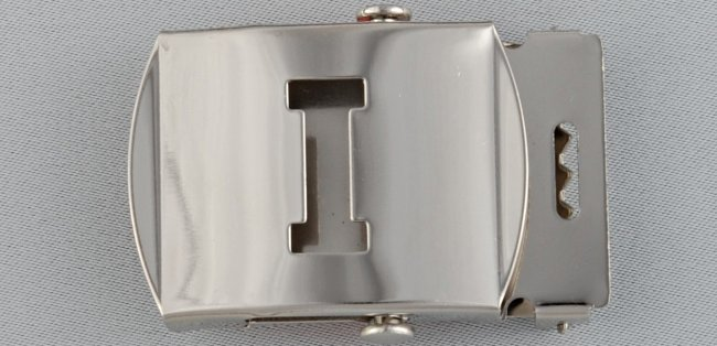WN-141 INITIAL I MILITARY STYLE BELT BUCKLE