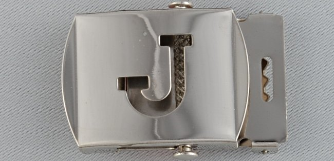 WN-141 INITIAL J MILITARY STYLE BELT BUCKLE