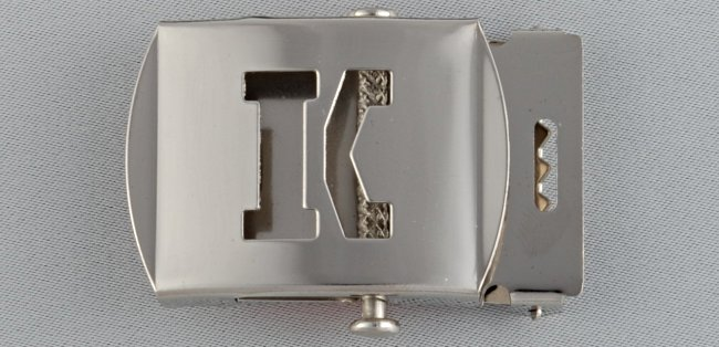 WN-141 INITIAL K MILITARY STYLE BELT BUCKLE