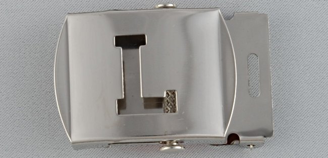 WN-141 INITIAL L MILITARY STYLE BELT BUCKLE