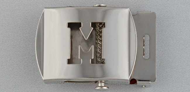 WN-141 INITIAL M MILITARY STYLE BELT BUCKLE