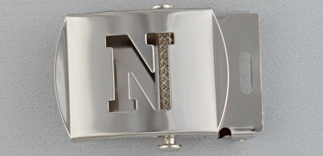WN-141 INITIAL N MILITARY STYLE BELT BUCKLE