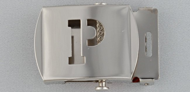 WN-141 INITIAL P MILITARY STYLE BELT BUCKLE
