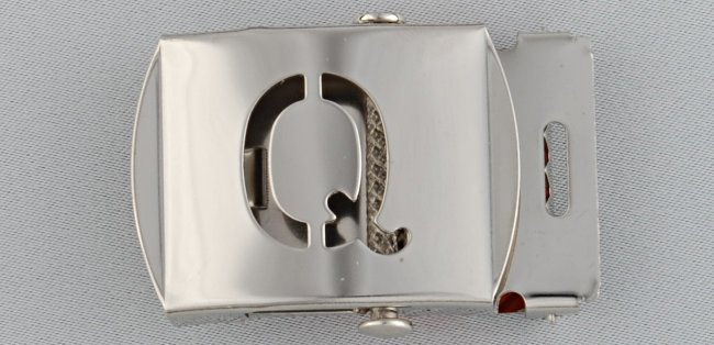 WN-141 INITIAL Q MILITARY STYLE BELT BUCKLE