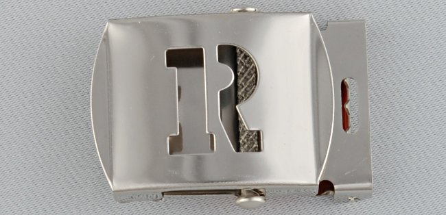 WN-141 INITIAL R MILITARY STYLE BELT BUCKLE