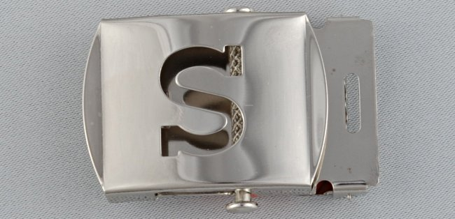 WN-141 INITIAL S MILITARY STYLE BELT BUCKLE