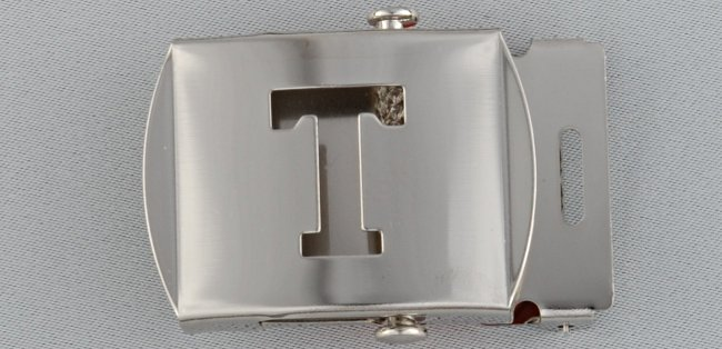 WN-141 INITIAL T MILITARY STYLE BELT BUCKLE