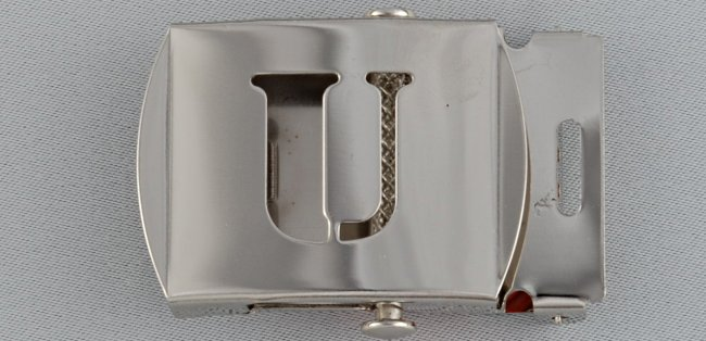 WN-141 INITIAL U MILITARY STYLE BELT BUCKLE