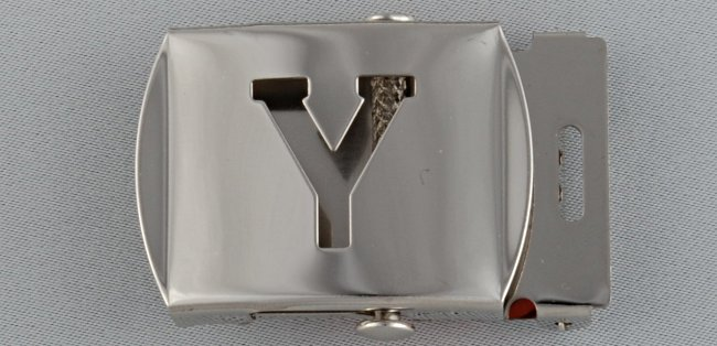 WN-141 INITIAL Y MILITARY STYLE BELT BUCKLE