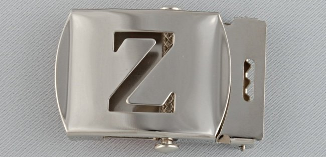 WN-141 INITIAL Z MILITARY STYLE BELT BUCKLE