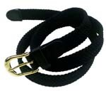 "LA-405 1"" THIN BLACK COLOR STRETCH BELT, LARGE (36/38)"