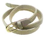 "LA-405 1"" THIN BEIGE COLOR STRETCH BELT, XS (28/30)"