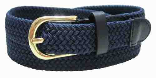 "LA-405 1"" THIN NAVY COLOR STRETCH BELT, MEDIUM (33/35)"