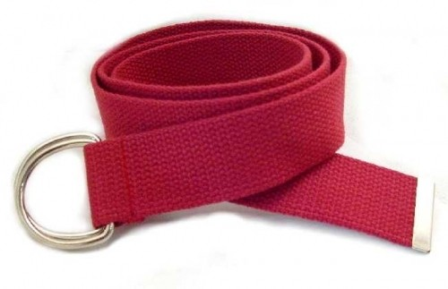 "WN-150 EGGPLANT 1 1/2"" CANVAS BELT W/DOUBLE ""D"" RING BUCKLE, LARGE"