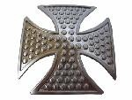 "BU-183 3"" X 3"" IRON CROSS WITH DOTS BELT BUCKLE"