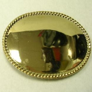 "BU-46G(LG) LARGE GOLD OVAL GOLD BLANK BELT BUCKLE (3.5"" H X 4 .5"" W)"