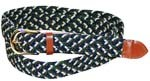 LA-401MGN GREEN-NAVY STRETCH BELT, MEDIUM (34/36)
