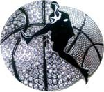 BU-243 BASKETBALL PLAYER WITH RHINESTONES BUCKLE