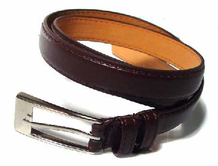 .5 Inch Brown Skinny Belt for Women in Small
