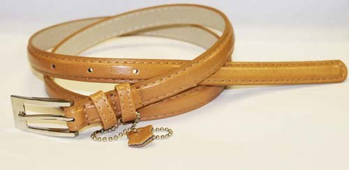 .5 Inch Tan Skinny Belt for Women in X-Large